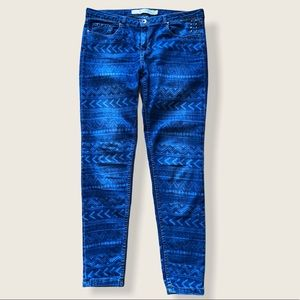 Zara Trafaluc 👖 Geometric Pattern Skinny Jeans